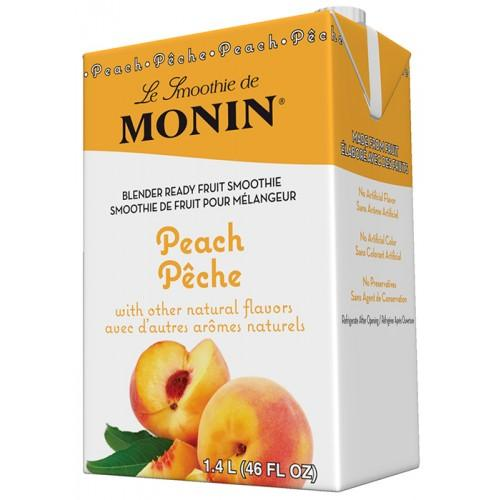 Monin Peach Fruit Smoothie Mix (46oz)-Liquid Base & Purees-monin-Carry Out Supplies
