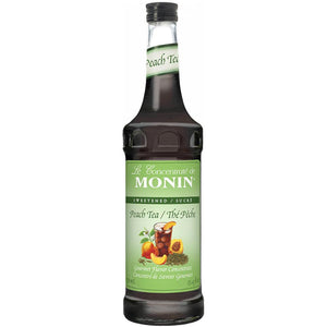Monin Peach Tea Concentrate Syrup Bottle - 750ml-Syrups-monin-Carry Out Supplies
