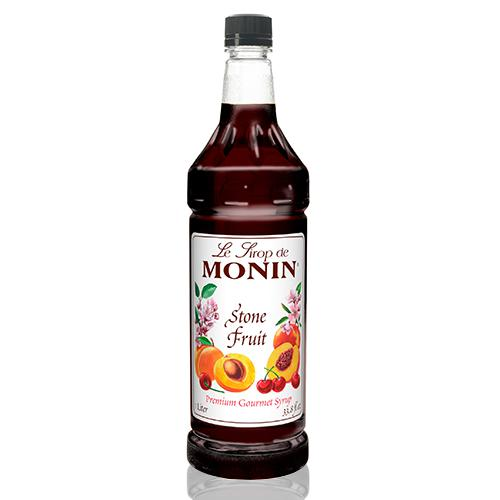 Monin Stone Fruit Syrup Bottle - 1 Liter-Syrups-monin-Carry Out Supplies