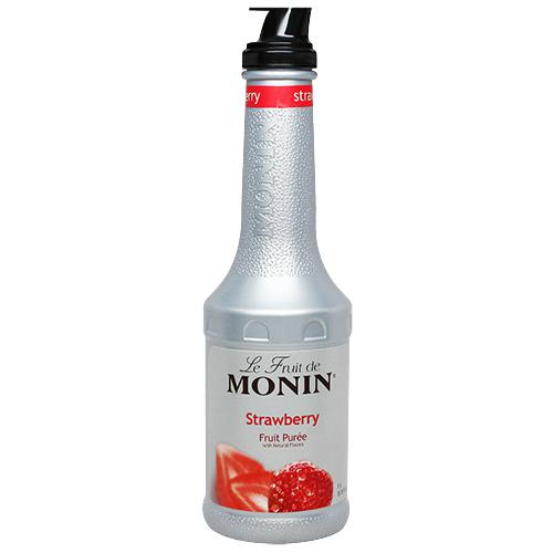 Monin Strawberry Fruit Pure (1L)-Liquid Base & Purees-monin-Carry Out Supplies