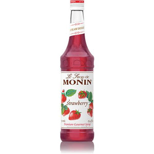 Monin Strawberry Syrup Bottle - 750ml-Syrups-monin-Carry Out Supplies