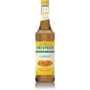 Monin Sugar Free Caramel Syrup Bottle - 750ml-Syrups-monin-Carry Out Supplies