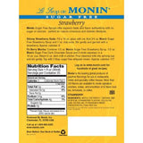 Monin Sugar Free Strawberry Syrup Bottle - 750ml-Syrups-monin-Carry Out Supplies