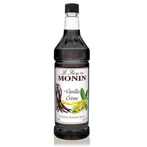 Monin Vanilla Creme Syrup Bottle - 1 Liter-Syrups-monin-Carry Out Supplies