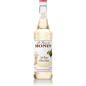 Monin White Chocolate Syrup Bottle - 750ml-Syrups-monin-Carry Out Supplies