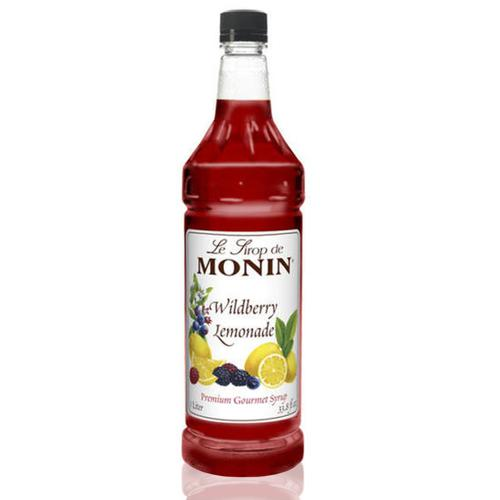 Monin Wildberry Lemonade Syrup Bottle - 1 Liter-Syrups-monin-Carry Out Supplies