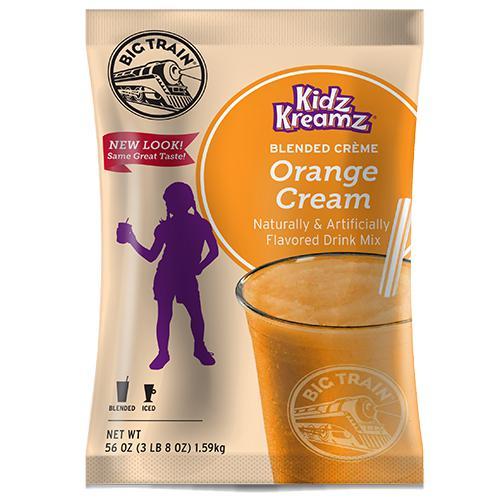 Orange Cream Kidz Kreamz Frappe - Big Train Mix - Bag 3.5 pounds-Powdered Base-Big Train-Carry Out Supplies