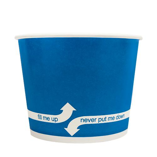 Paper Food Containers - 16oz Food Containers - Blue (112mm) - 1,000 ct-To-Go Packaging-Karat-No Lids-Carry Out Supplies