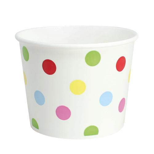 Paper Food Containers - 16oz Food Containers - Dots (112mm) - 1,000 ct-To-Go Packaging-Karat-No Lids-Carry Out Supplies