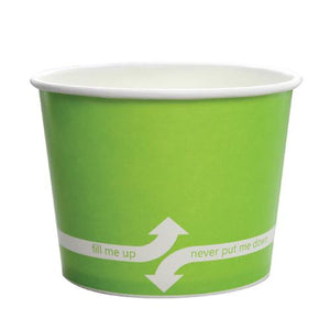Paper Food Containers - 16oz Food Containers - Green (112mm) - 1,000 ct-To-Go Packaging-Karat-No Lids-Carry Out Supplies