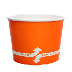 Paper Food Containers - 16oz Food Containers - Orange (112mm) - 1000 ct-To-Go Packaging-Karat-No Lids-Carry Out Supplies