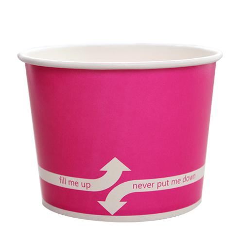Paper Food Containers - 16oz Food Containers - Pink (112mm) - 1,000 ct-To-Go Packaging-Karat-No Lids-Carry Out Supplies