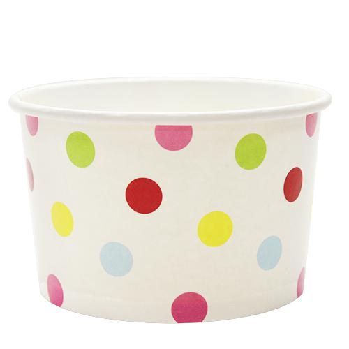 Paper Food Containers - 20oz Food Containers - Dots (127mm) - 600 ct-To-Go Packaging-Karat-No Lids-Carry Out Supplies