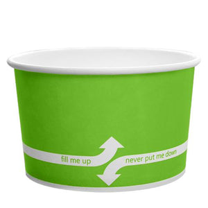 Paper Food Containers - 20oz Food Containers - Green (127mm) - 600 ct-To-Go Packaging-Karat-No Lids-Carry Out Supplies