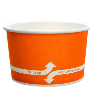 Paper Food Containers - 20oz Food Containers - Orange (127mm) - 600 ct-To-Go Packaging-Karat-No Lids-Carry Out Supplies