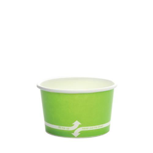 Paper Food Containers - 4oz Food Containers - Green (76mm) - 1,000 ct-To-Go Packaging-Karat-No Lids-Carry Out Supplies