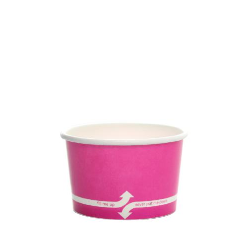 Paper Food Containers - 4oz Food Containers - Pink (76mm) - 1,000 ct-To-Go Packaging-Karat-No Lids-Carry Out Supplies