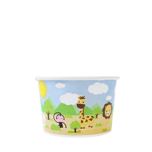 Paper Food Containers - 4oz Food Containers - Safari (76mm) - 1,000 ct-To-Go Packaging-Karat-No Lids-Carry Out Supplies