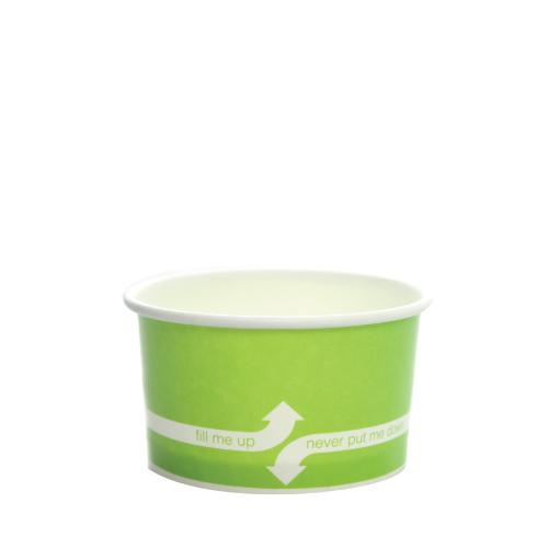 Paper Food Containers - 5oz Food Containers - Green (87mm) - 1,000 ct-To-Go Packaging-Karat-No Lids-Carry Out Supplies