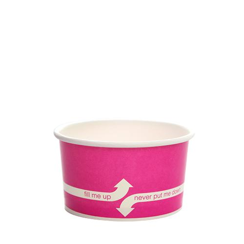 Paper Food Containers - 5oz Food Containers - Pink (87mm) - 1,000 ct-To-Go Packaging-Karat-No Lids-Carry Out Supplies