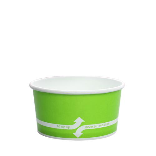 Paper Food Containers - 6oz Food Containers - Green (96mm) - 1,000 ct-To-Go Packaging-Karat-No Lids-Carry Out Supplies