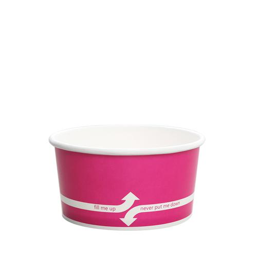 Paper Food Containers - 6oz Food Containers - Pink (96mm) - 1,000 ct-To-Go Packaging-Karat-No Lids-Carry Out Supplies