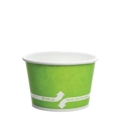 Paper Food Containers - 8oz Food Containers - Green (95mm) - 1,000 ct-To-Go Packaging-Karat-No Lids-Carry Out Supplies