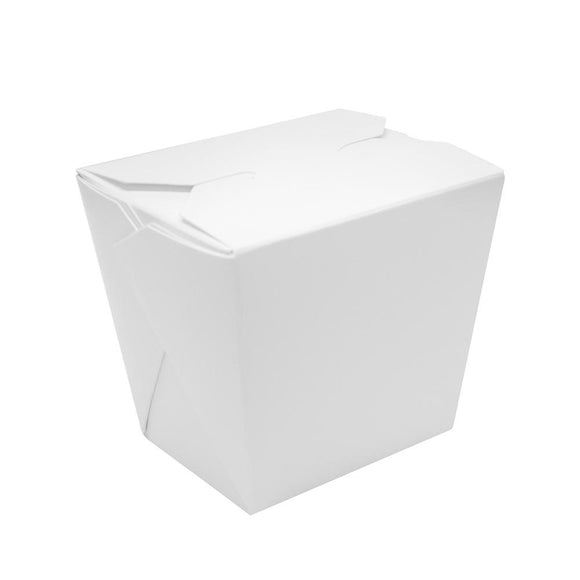 Paper Food Pail 16oz Chinese Take-Out Container - White - 450 Count-To-Go Packaging-Karat-Carry Out Supplies