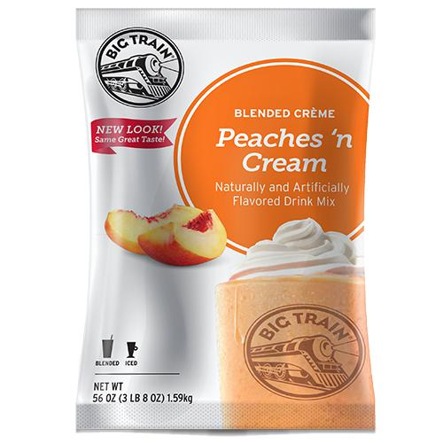 Peaches 'N Cream Blended Creme Frappe - Big Train Mix - Bag 3.5 pounds-Powdered Base-Big Train-Carry Out Supplies