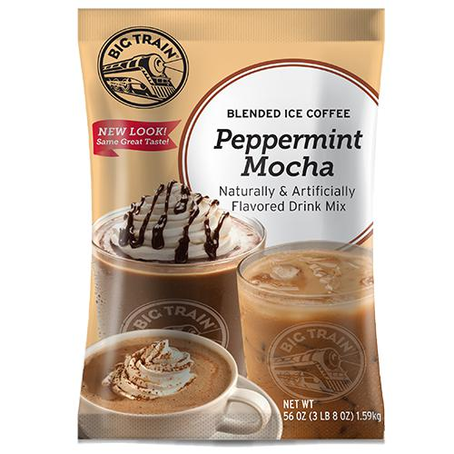 Peppermint Mocha Blended Ice Coffee - Big Train Mix - Bag 3.5 pounds-Powdered Base-Big Train-Carry Out Supplies