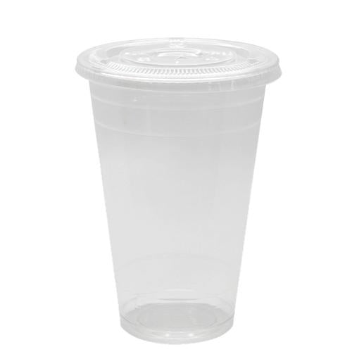 Plastic Cups - 20oz PET Cold Cups and PET Flat Lids (98mm)-Cups & Lids-Karat-Carry Out Supplies