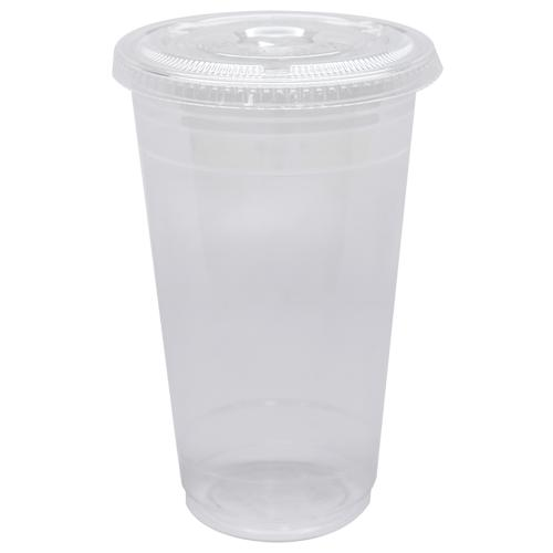 Plastic Cups - 24oz PET Cold Cups and PET Flat Lids (98mm)-Cups & Lids-Karat-Carry Out Supplies