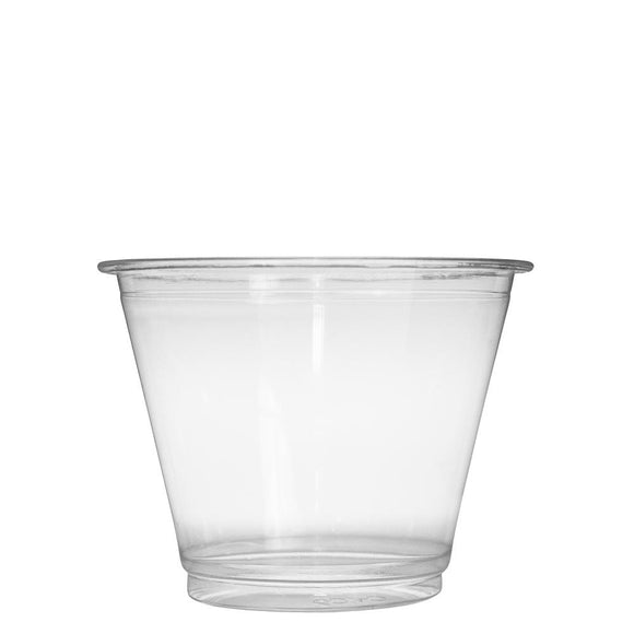 Plastic Cups - 9oz PET Cold Cups (92mm) - 1,000 ct-Cups & Lids-Karat-No Lids-Carry Out Supplies