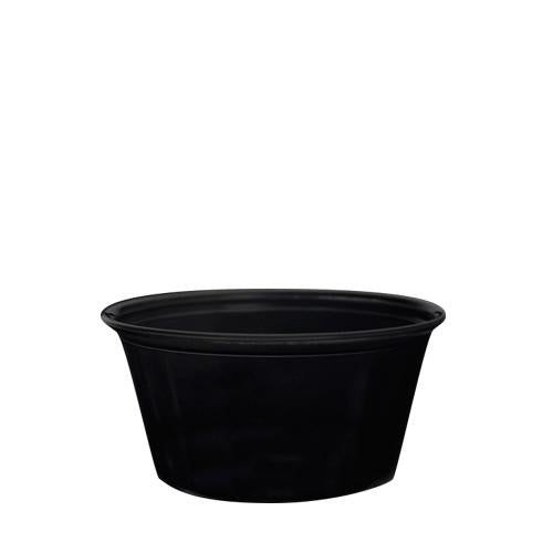Plastic Portion Cups - 3.25oz PP Portion Cups - Black - 2,500 ct-To-Go Packaging-Karat-No Lids-Carry Out Supplies