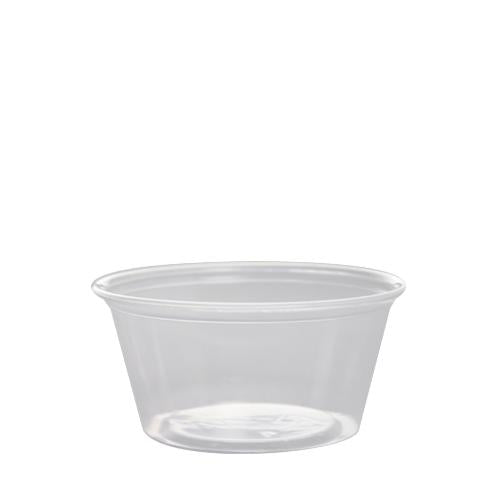Plastic Portion Cups - 3.25oz PP Portion Cups - Clear - 2,500 ct-To-Go Packaging-Karat-No Lids-Carry Out Supplies