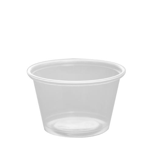 Plastic Portion Cups - 4oz PP Portion Cups - Clear - 2,500 ct-To-Go Packaging-Karat-No Lids-Carry Out Supplies