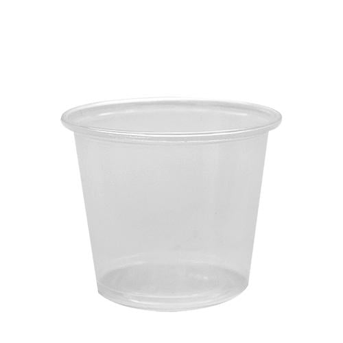 Plastic Portion Cups - 5.5oz PP Portion Cups - Clear - 2,500 ct-To-Go Packaging-Karat-No Lids-Carry Out Supplies
