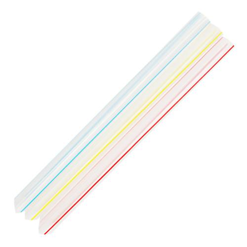Plastic Straws 7.5'' Bubble Tea Straws (10mm) - Mixed Striped Colors - 4,500 count-Straws & Stirrers-Karat-Carry Out Supplies