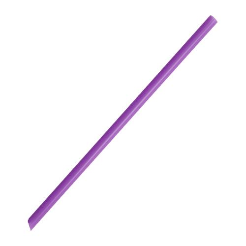 Plastic Straws 7.75'' Giant Straws (8mm) Poly Wrapped - Purple - 5,000 count-Straws & Stirrers-Karat-Carry Out Supplies
