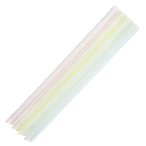 Plastic Straws 9'' Bubble Tea Straws (10mm) - Mixed Striped Colors - 1,600 count-Straws & Stirrers-Karat-Carry Out Supplies