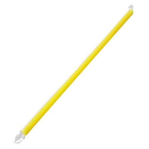 Plastic Straws 9'' Giant Straws (8mm) Poly Wrapped - Yellow - 2,500 count-Straws & Stirrers-Karat-Carry Out Supplies