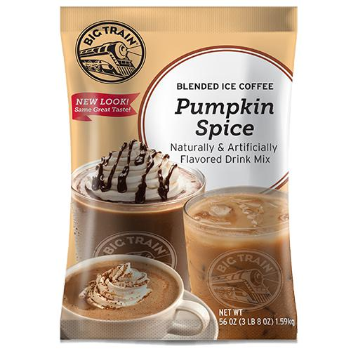 Pumpkin Spice Blended Ice Coffee - Big Train Mix - Bag 3.5 pounds-Powdered Base-Big Train-Carry Out Supplies