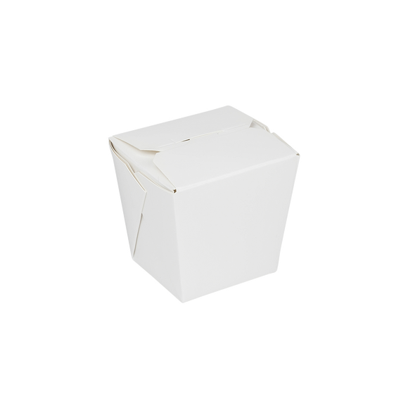 Rice Oyster Pails - 8oz Chinese Takeout Containers - Paper Food Pail - White - 450 Count-Restaurant Supply Drop
