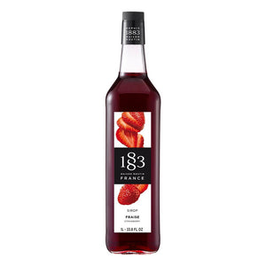 Strawberry Syrup 1883 Maison Routin - 1 Liter Bottle-Syrups-1883 Maison Routin-Carry Out Supplies