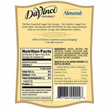 Sugar Free Almond DaVinci Syrup Bottle - 750mL-Syrups-DaVinci Gourmet-Carry Out Supplies