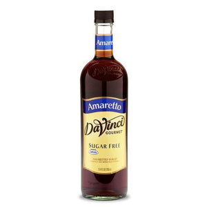 Sugar Free Amaretto DaVinci Syrup Bottle - 750mL-Syrups-DaVinci Gourmet-Carry Out Supplies