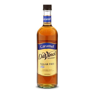 Sugar Free Caramel DaVinci Syrup Bottle - 750mL-Syrups-DaVinci Gourmet-Carry Out Supplies