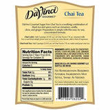 Sugar Free Chai Tea Concentrate DaVinci Bottle - 750mL-Syrups-DaVinci Gourmet-Carry Out Supplies
