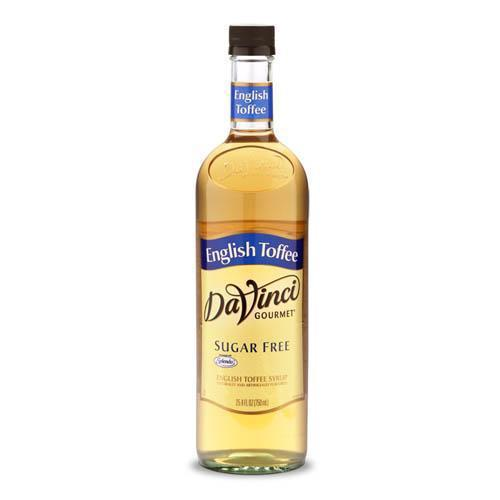 Sugar Free English Toffee DaVinci Syrup Bottle - 750mL-Syrups-DaVinci Gourmet-Carry Out Supplies