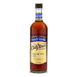 Sugar Free French Vanilla DaVinci Syrup Bottle - 750mL-Syrups-DaVinci Gourmet-Carry Out Supplies